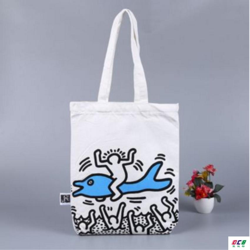 广州棉布袋厂专业定做帆布手提袋烫画购物袋定制全棉广告袋46
